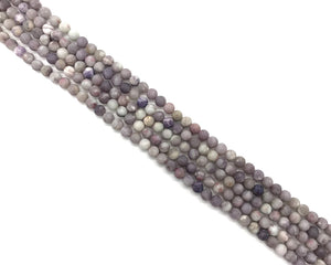 Matte Lilac Stone Round Beads 8mm