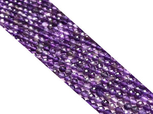 Amethyst Super Precision Cut Faceted Round Beads 4Mm