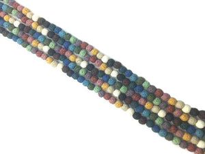 Lava Stone Rainbow Round Beads 18Mm