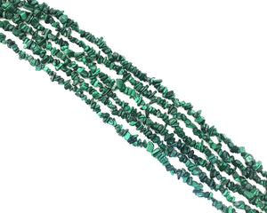 Malachite Chips 36Inch 5x8mm