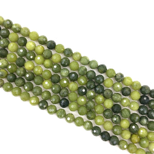 Canadian jade Faceted Beads 6mm