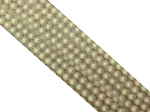 Shell Pearl Beige Grain Round Beads 4Mm
