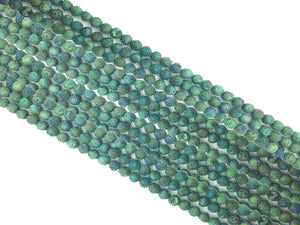 Agate Druzy Green Round Beads 8Mm