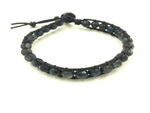 Black Labradorite Bracelet 6Mm