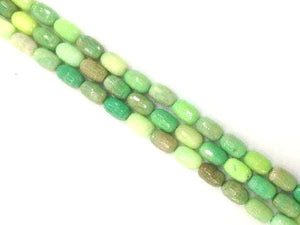 Green Grass Agate Faceted Rice 10X14Mm