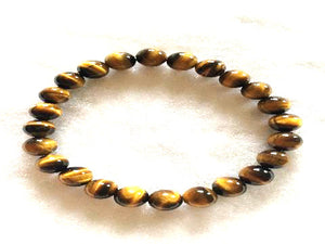 Yellow Tiger Eye Bracelet 6Mm