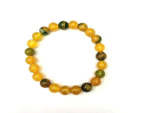 Color Agate Yellow Bracelet 8Mm