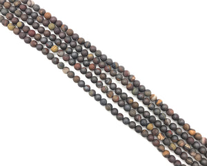 Matte Sunset Tiger Iron Round Beads 6mm