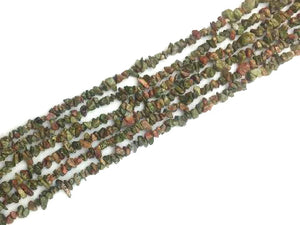 Unakite 36 Inch Chips 5X8Mm