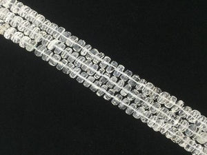 Crystal Quartz Faceted Heishi 8-12Mm