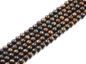 Bronzite Faceted Rounds 14Mm