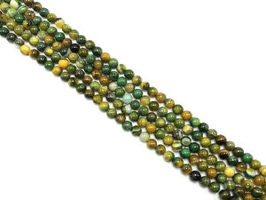 Color Sardonyx Yellow Green Round Beads 16Mm