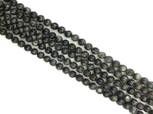 Black Labradorite Round Beads 4Mm