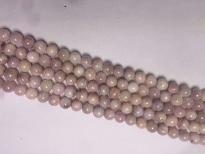 Pink Kunzite Round Beads	8mm