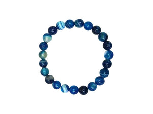Blue Sardonyx Bracelet 8Mm