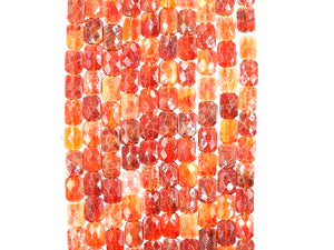 Fire Agate Faceted Pillow 10X14Mm