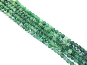 Matte Agate Green Round Beads 8Mm