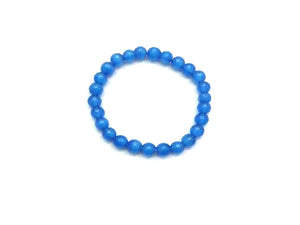 Artificial Opal Blue Bracelet 8Mm