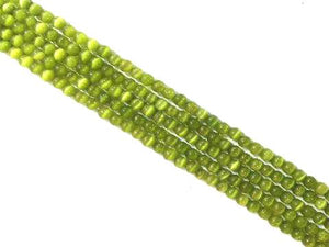 Artificial Opal Green Round Beads 6Mm