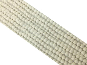 Lava Stone White Round Beads 18Mm