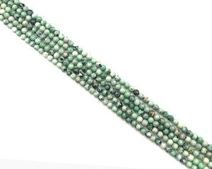 Green Turquoise Round Beads 6-7mm