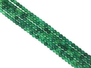 Matte Green Agate Round Beads 6Mm