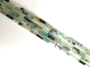 Black Coludy Amazonite Cube 4X13Mm