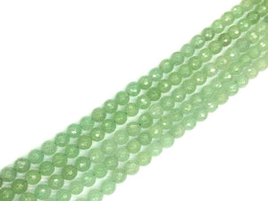 Aventurine Green Faceted Rounds 10Mm