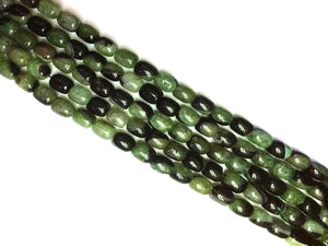 Color Agate Green Black Bucket 10X14Mm