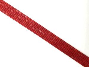Bamboo Coral Red Tube 4X8Mm