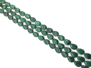 Malachite Flat Teardrop 13X18Mm