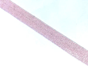 Rose Quartz Super Precision Cut Faceted Rounds 14 Inch 2Mm