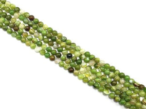 Color Sardonyx Apple Green Round Beads 14Mm