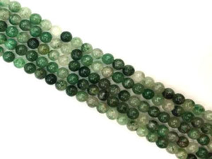 African Green Calcedong Round Beads 8Mm