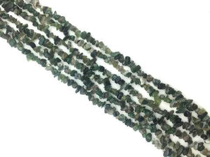 Moss Agate 36 Inch Chips 5X8Mm