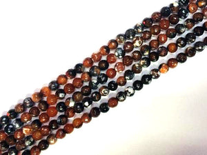 Color Dream Fire Agate Faceted Rounds 6Mm