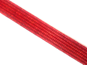 Bamboo Coral Red Heishi 4X6Mm