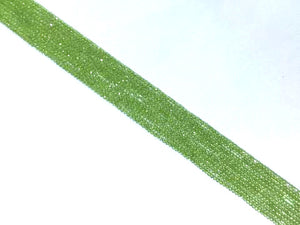 Peridot Super Precision Cut Faceted Rounds 14 Inch 2Mm