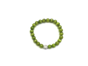 Artificial Opal Green Metal Guajian Bracelet 8Mm