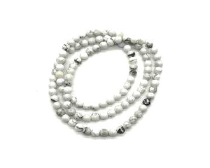 Howlite White Round Beads 108 Pcs 6Mm
