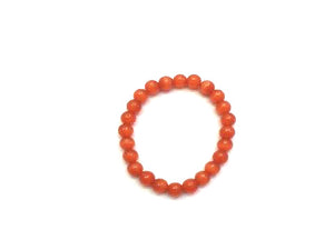 Artificial Opal Orangered Bracelet 8Mm