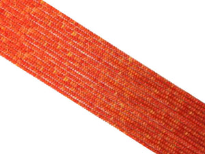 Bamboo Coral Orange Roundel 2X3Mm