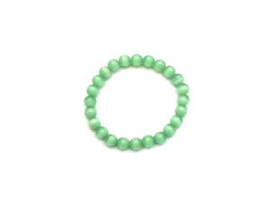 Artificial Opal Jade Green Bracelet 8Mm