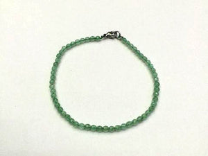Aventurine Green Faceted Rounds Bracelet 3Mm