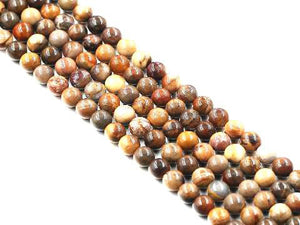 Wooden Agate Round Beads 14Mm