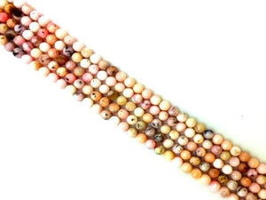 Pink Opal Faceted Rounds 14Mm