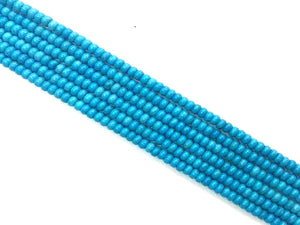 Stabilized Magnesite Blue Roundelle 2X4Mm