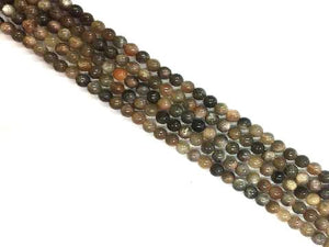 Black Sunstone Round Beads 8Mm