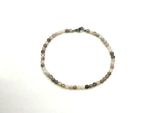 Botswana Agate Faceted Rounds Bracelet 3Mm