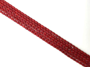 Bamboo Coral Red Barrel 4X6Mm